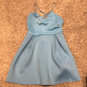 ASOS MINI BABY BLUE DRESS